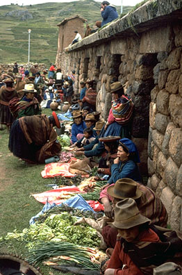 Trading Beside Inca Walls