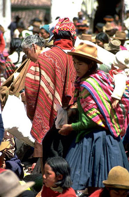 Man Wearing Woven Poncho