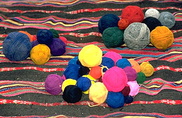 Balls of Yarn Ready for Weaving