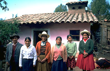 A Chinchero Family in the Courtyard