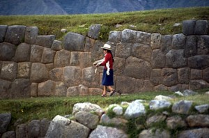 Spinning in Front of Inca Walls