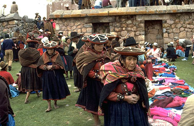 Women Wearing Traditional Inca Dress
